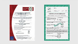 ISO and CE certificates