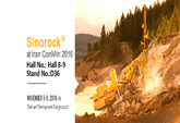Sinorock® Will Attend Iran ConMin 2016