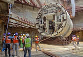 The new camera system for boring machines makes the tunneling construction mo